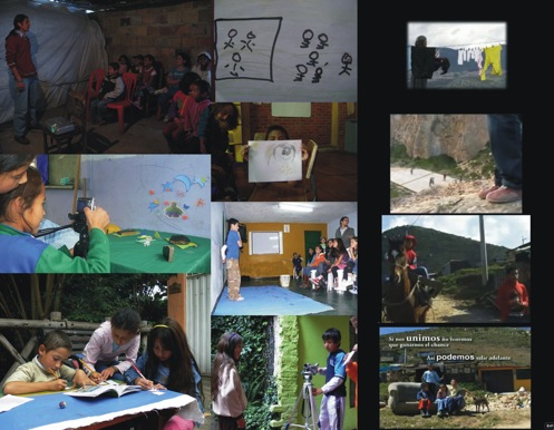 Figure 2. Audiovisual workshops in neighborhoods Potos and Lucero Medio-Ciudad Bolvar. Ingrids House, Urban Attack, The Hole and Hidden Violence Girls Women; are some of the production titles.