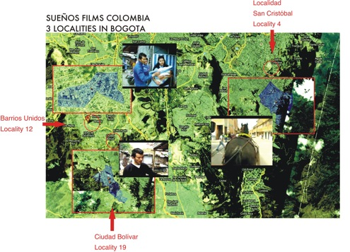Figure 3. Besides Ciudad Bolívar, two more localities are benefited by Sueños Films Colombia.
