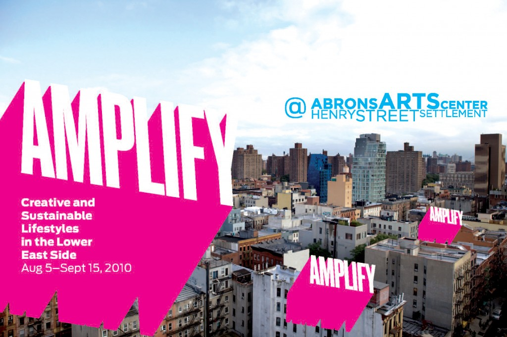 Figure 2: Invitation for the Amplify exhibition at the Abrons Art Center.