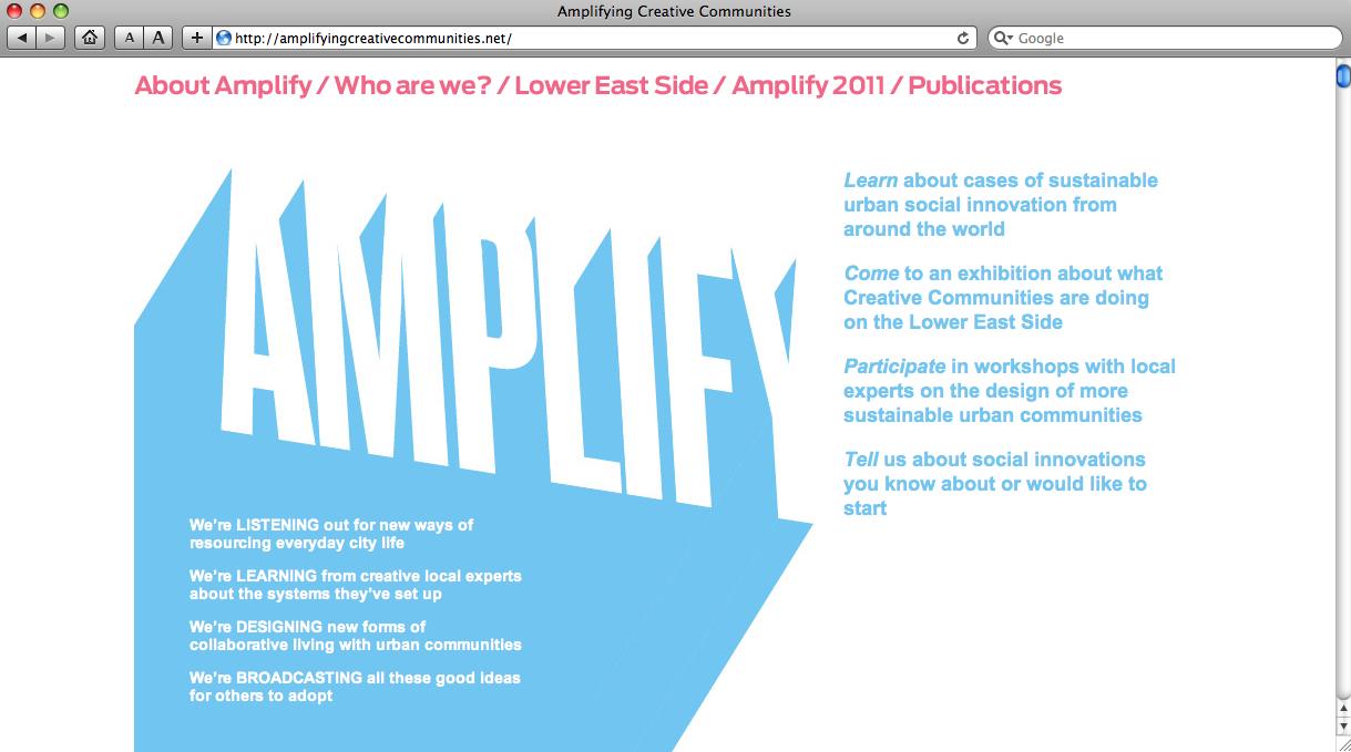 Figure 9: Screenshot of the Amplify website