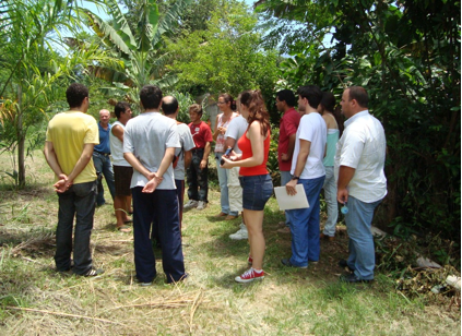 Fig.2: UFRJ members visiting a food producer, Mr.Callado farm.