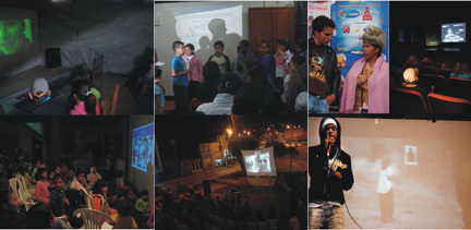 Figure 4. Audiovisual samples, concerts, talks, all over Ciudad Bolívar. First activities to consider.